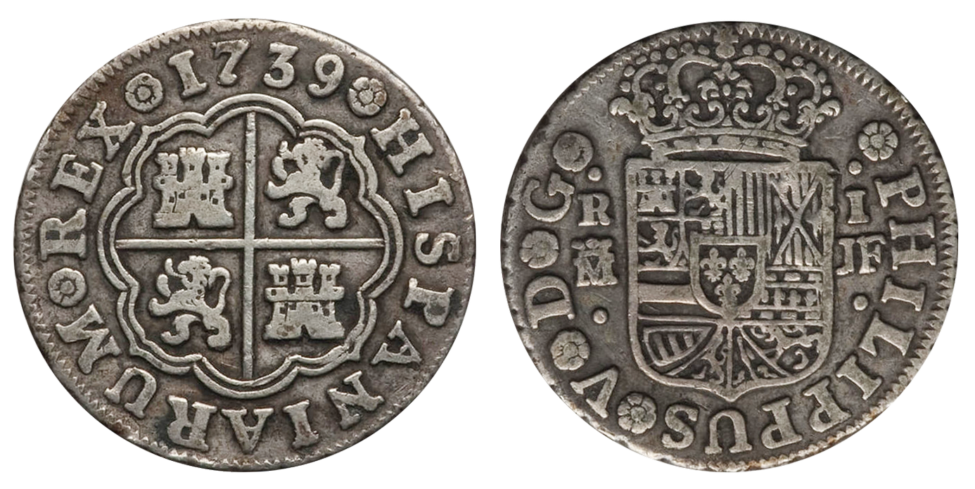 1739 1 real coin image