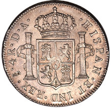 four reales coin reverse